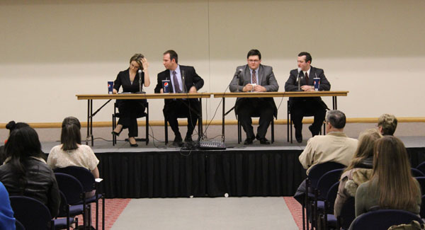 Candidates compete to charm campus