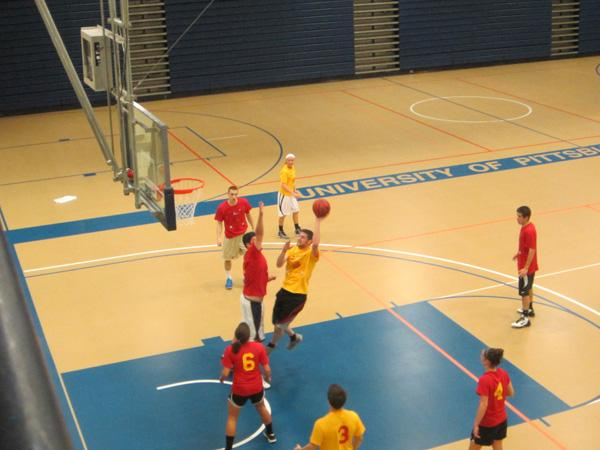 Faculty beat students for good cause