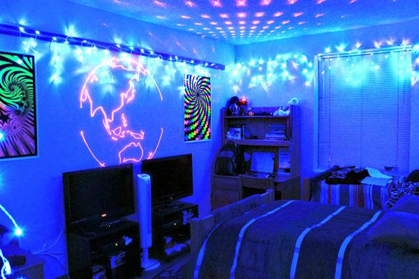 Students like psychedelic dorm decor