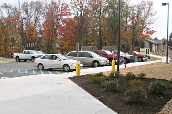 Nursing building offers additional parking area