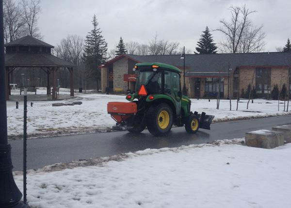 Police, grounds crew adapt to icy weather