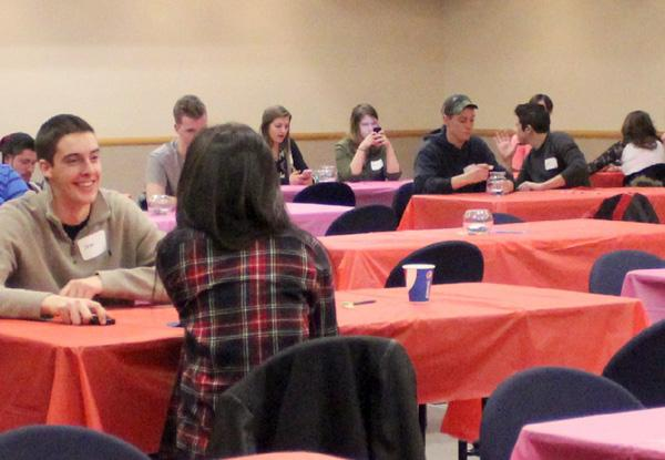 Students attend speed dating event