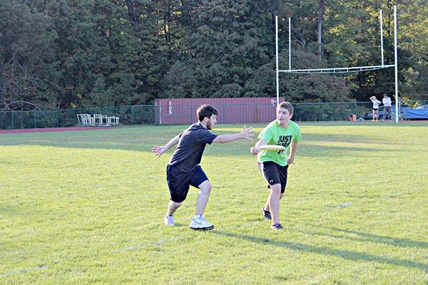 Pitt-Johnsotwn Flood Ultimate team practices hard in preparation for their upcoming season starting this fall. The team plans to participate in four tournaments, but the fist competition is to be determined.
