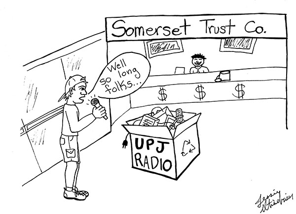 Stinebiser - Radio station replaced by bank