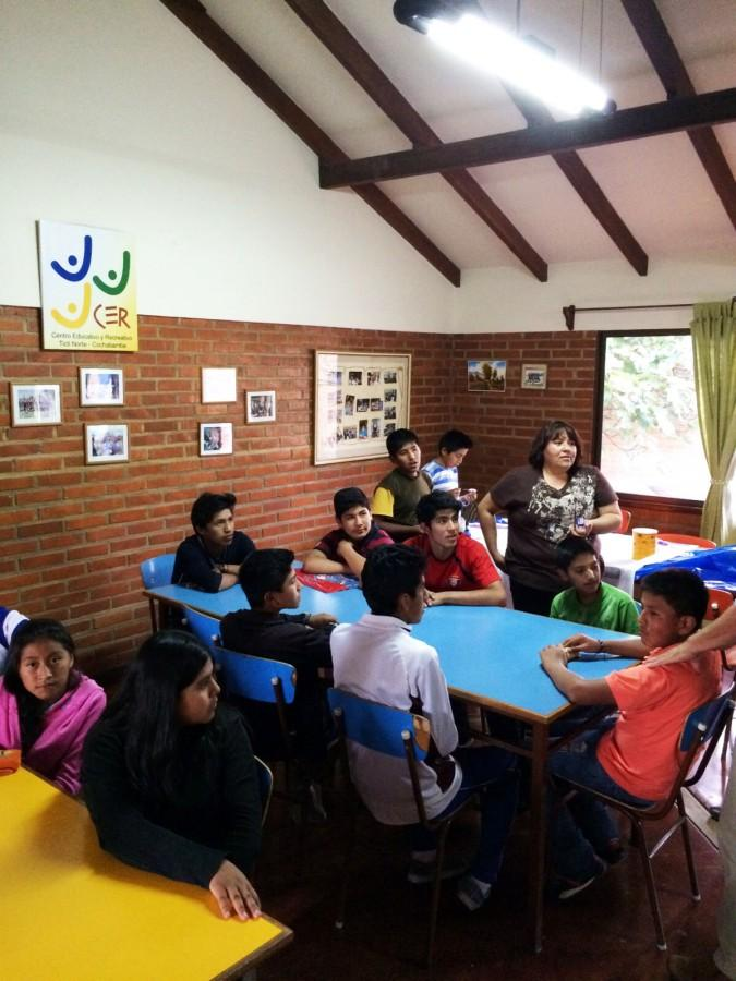 Bolivian children attend class at the Centro Educativo y Recreativo Fundacion Casari, an education center in Cochabamba.