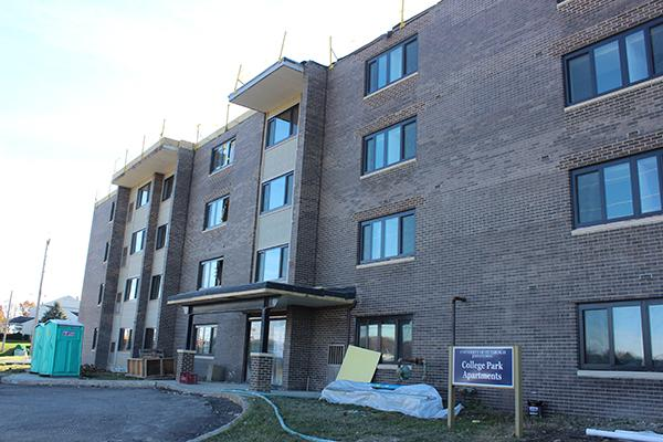 The College Park Apartments project is under budget and ahead of schedule.