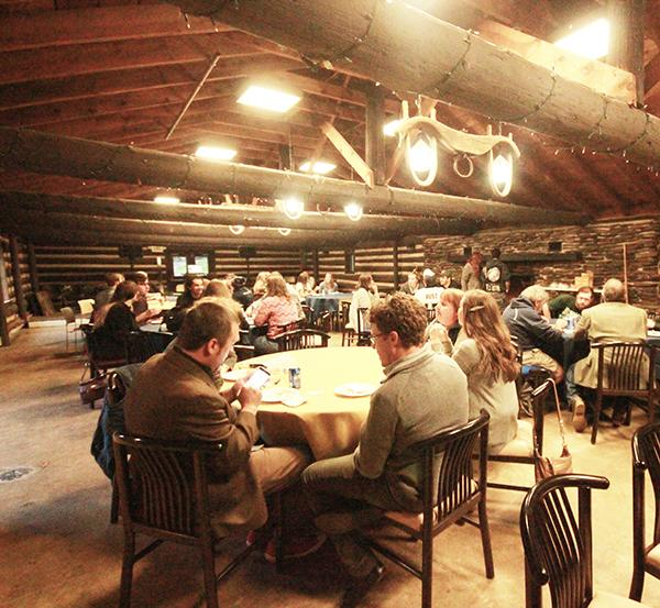 The Humanities Division hosted a barbecue at Oct 13. in the Log Cabin.