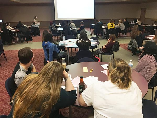 Prospective tutors attened an informational meeting about tutoring in Cambria Room. The meeting was held Jan. 12.