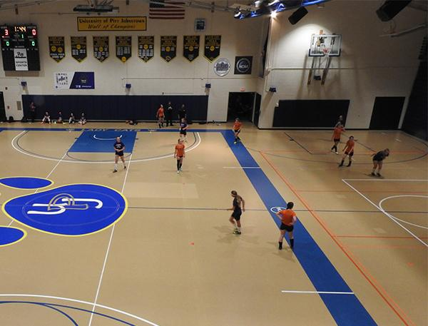 Pitt-Johnstown's Sports center was the site of an indoor high school soccer tournamnet Jan. 28.