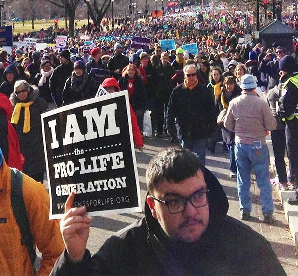 Thousands of peaceful protestors march against abortion Jan. 27 on Capital Hill.
