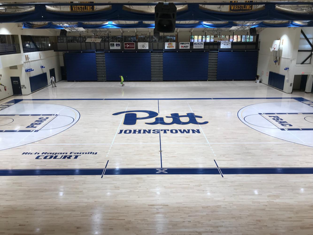 The Pitt-Johnstown Sports Center received a $211,500 renovation that placed hardwood over the old composite floor. The renovation was completed by  S&S Flooring in Ambridge, Beaver County. The Pitt-Johnstown men's and women's basketball team had their first practice on the new floor Sunday.
