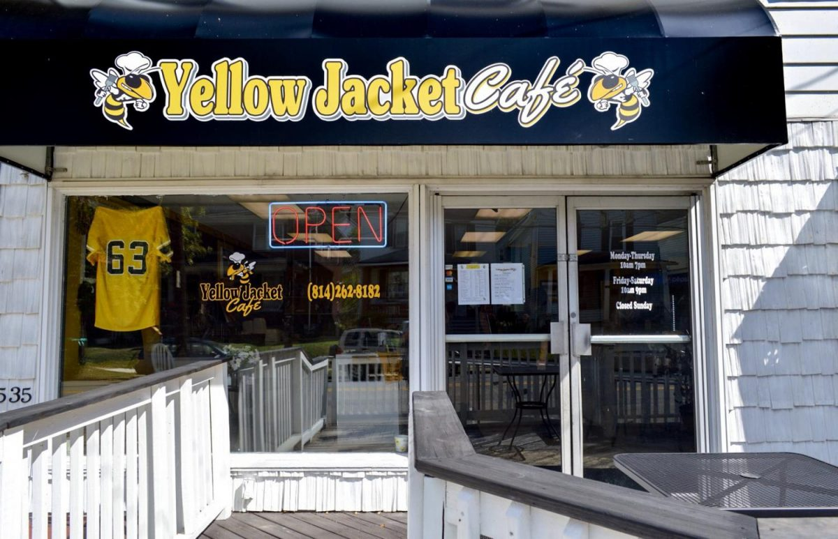 The Yellow Jacket Café, a new restaurant in Ferndale Borough, is decked out in black and yellow.