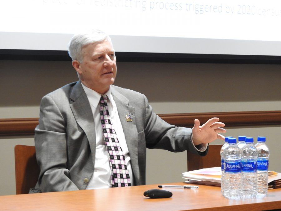 State Rep. Bryan Barbin, D-71st, answers audience questions at a Feb. 6 forum in the John P. Murtha Center for Public Service.