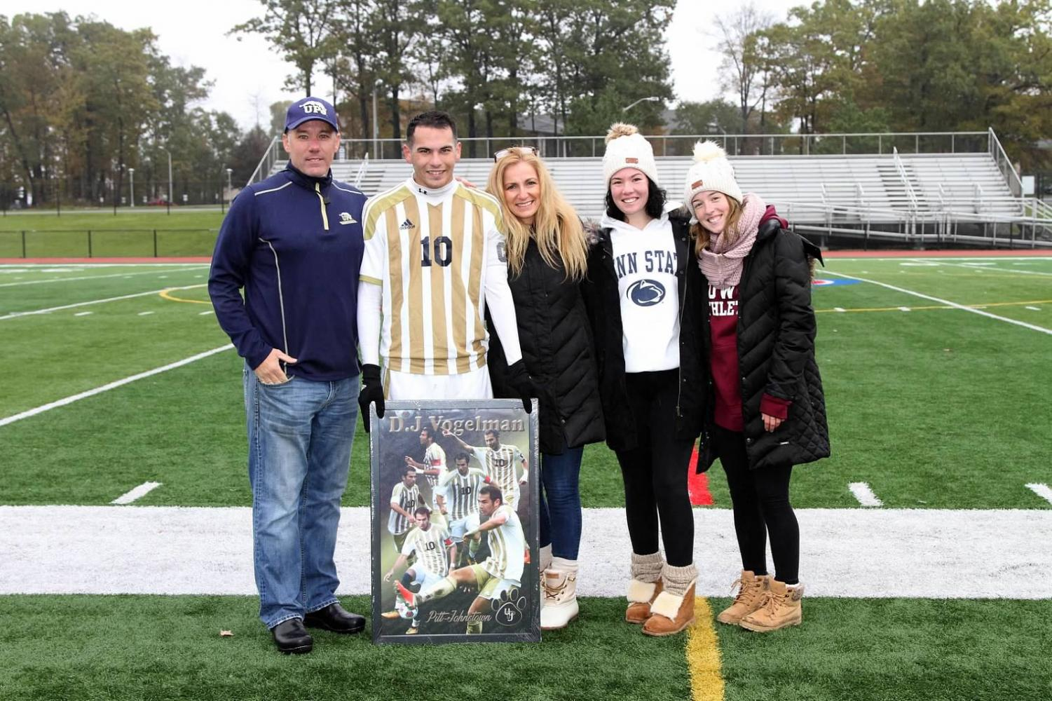 Senior D.J. Vogelman (No. 10) at his senior day ceremony Oct. 27 at Richland High School.