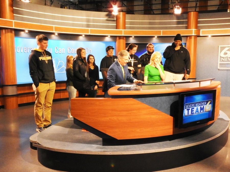 Last Wednesday, about eight students visited WJAC-TV's television studio in Upper Yoder Township, which is an annual tour offered each spring in adjunct instructor Richard Bukoski's Broadcast Journalism class.