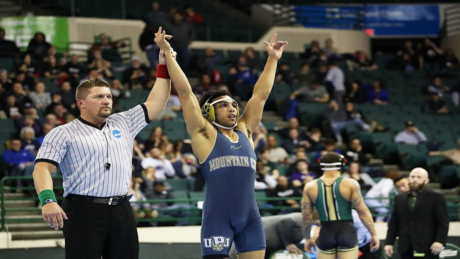 Chris Eddins won his second national championship in 149-pound class March 9 in Cleveland.