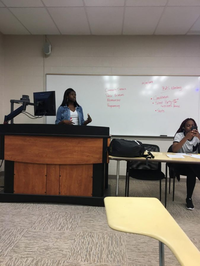 Black Action Society President Itunu Lawal (left) and Secretary Sani Davis (right) held their biweekly meeting Thursday in Biddle 211.