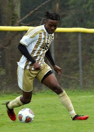 Pitt-Johnstown's Patrick Ahmed played against Penn State-New Kensington and scored two goals and helped the men's soccer team win 4-0 Sept. 5 at New Kensington. | Photo courtesy of Ali Single