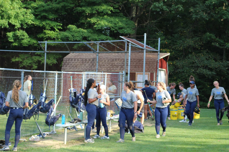 The Pitt-Johnstown softball team is training for a short fall ball season Spet. 12 at the softball field Sept. 12.