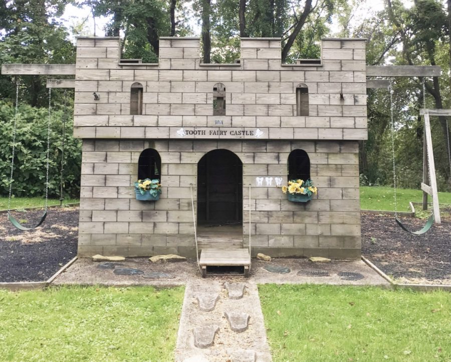 Beside Dr. Ridella's clinic at 901 Menoher Blvd. in Westmont, there is a tooth fairy castle for children.