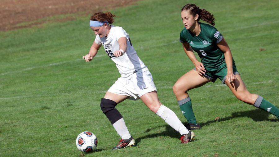Abby+LaDuke+%28left%29+lead+Pitt-Johnstown+women%E2%80%99s+soccer+to+a+5-1+win+against+Clarion+University+Sept+18+at+the+Pitt-Johnstown+soccer+field.