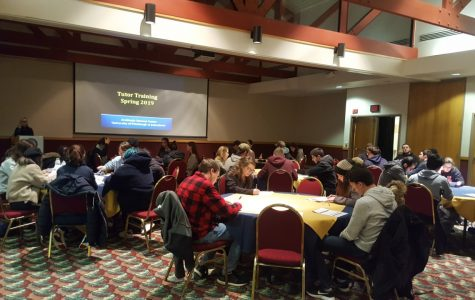 Peer tutors had a training day to prepare for the spring 2019 academic semester. Starting spring 2020, tutors will gain an opportunity to attend a training workshop series for a pay increase.