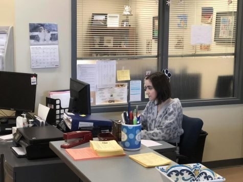 Academic Success Center receptionist Rachael Buccicone at the Academic Success Center Jan. 23.