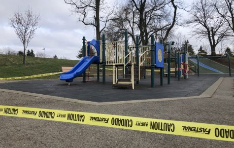 Blue Slide Park in Pittsburgh was blocked March 30.  In addition to schools, public gathering places and non-essential businesses in the state were ordered to be closed until further notice.