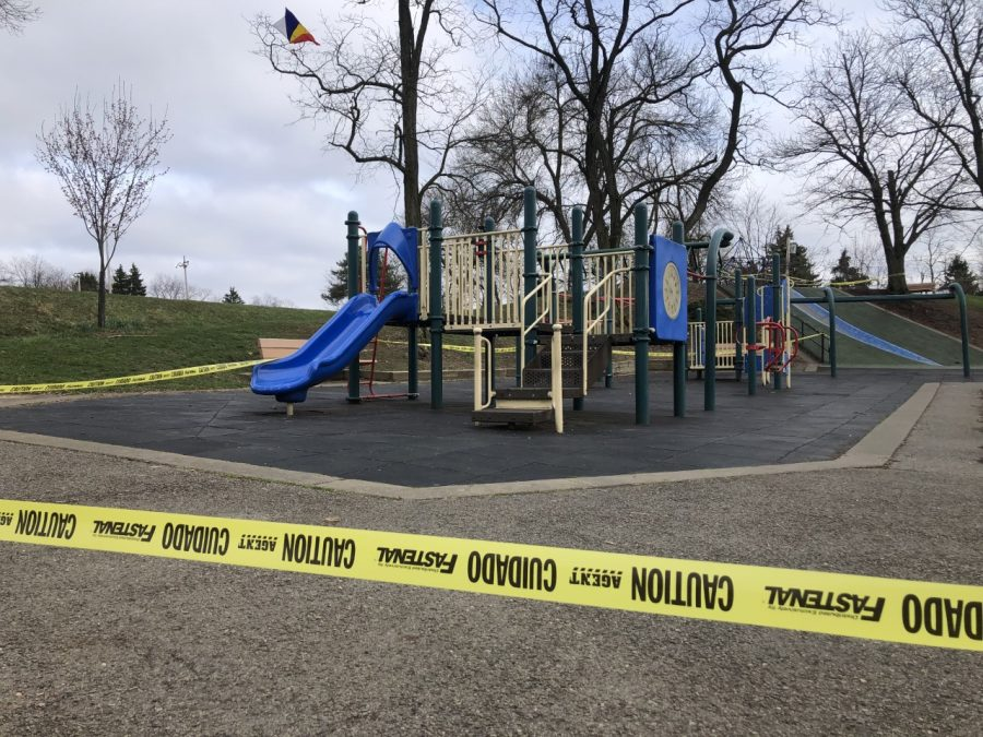 Blue+Slide+Park+in+Pittsburgh+was+blocked+March+30.++In+addition+to+schools%2C+public+gathering+places+and+non-essential+businesses+in+the+state+were+ordered+to+be+closed+until+further+notice.